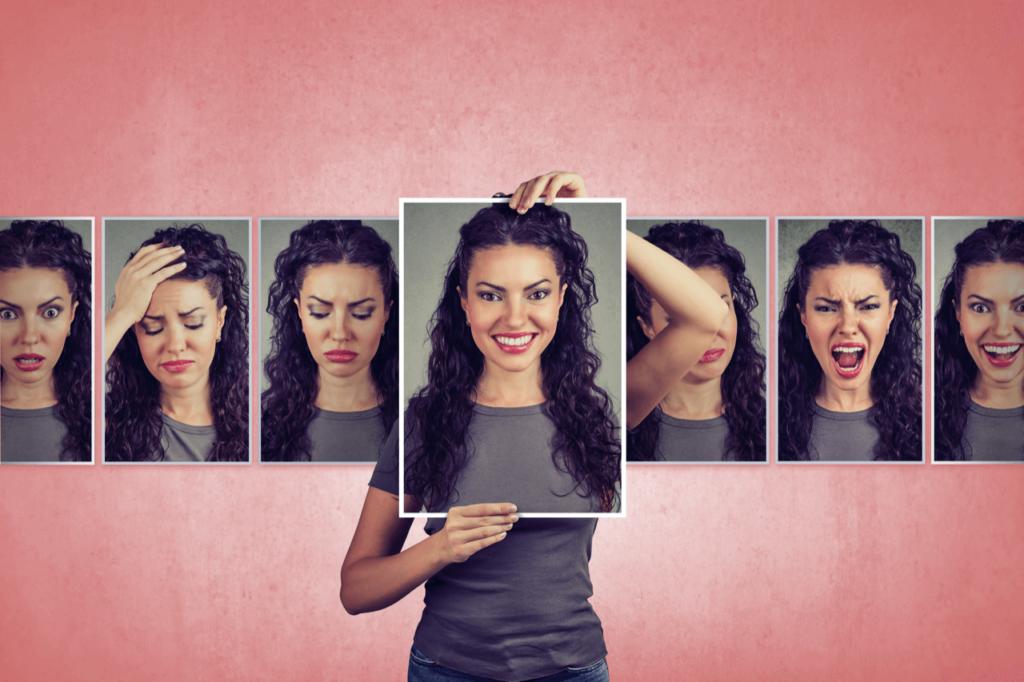 Jonge vrouw met stemmingswisselingen door disbalans in hormonen