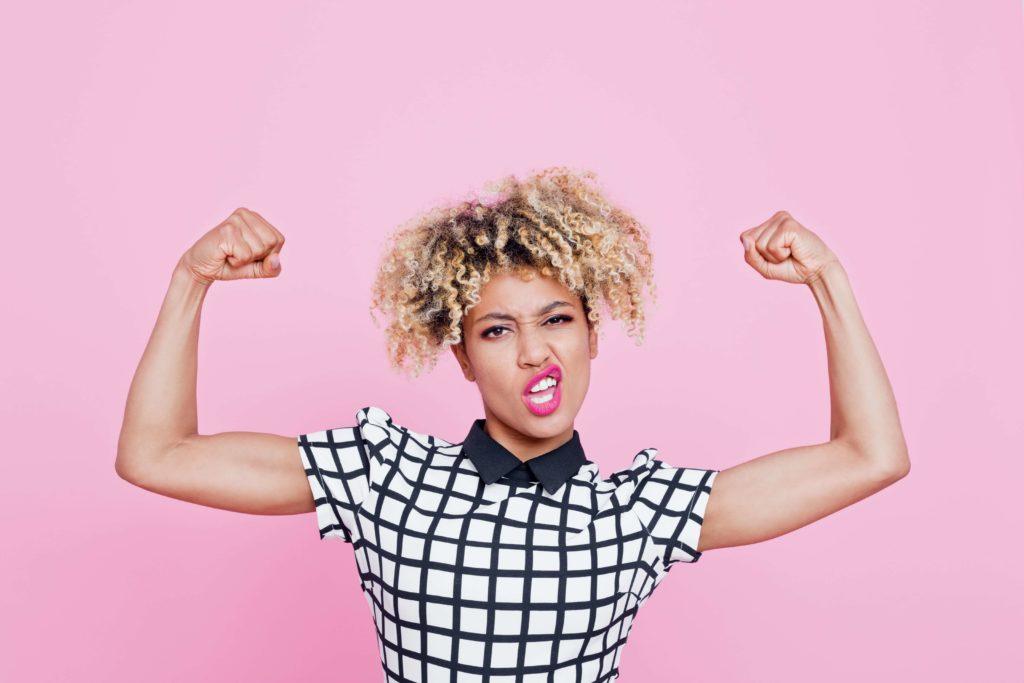 Vrouw met veel testosteron, daardoor meer mannelijk uiterlijk